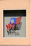 NO! Child Left Behind - NYU Student Center Window