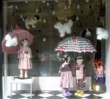 Children's Store Window - Raining Cats & Dogs