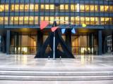 Calder Stabile at Seagram's Building Entrance