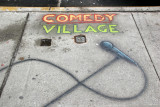 Comedy Village Sidewalk Sign