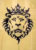 Window Poster of a Crowned Lion