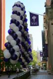 NYU Graduation Balloon Adornment