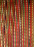 Small Bathroom Rug Woven with Multi-colored Nylon Strips