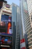 Times Square - Downtown View of Giant Screens & Glass Walled Skyscrapers