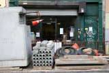 Laundermat & Construction at Thompson Street
