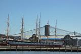 Clipper Ship Masts, Brooklyn & Manhattan/Williamsburg Bridges
