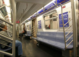 Inside a Subway Car at Canal Street