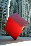 Red Cube Sculpture