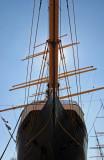 Peking Clipper Ship Bow & Mast