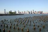 Jersey City Skyline & Hudson River Pier Pilings
