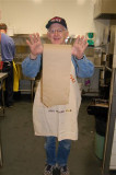 CML Patient Zavie having a little fun where he works as a volunteer in a soup kitchen