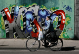 biker and graffiti