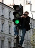 Signs are always green for photographers in Paris!
