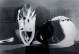 Noire et Blanche négatif (model with african mask)