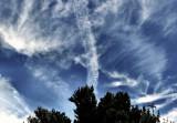 the sky above Ile de Ré