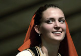 girl from a group performing russian dances
