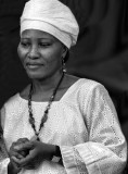 A woman of Sierra Leone in a contemplative moment