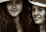 hats, curls and smiling faces