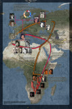 Migration routes of ancestral relatives