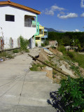 Quality Honduran construction! Our friends lived in the first row that fell down the hill after a big rain