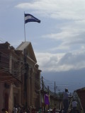 Flag flying high on the Library