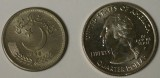 Pakistani 50 paisas coin with US Quarter 25cents - IMGP4661_cr-.jpg
