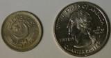 Pakistani 25 paisas (Quarter) coin with US Quarter 25cents - IMGP4658_cr.jpg