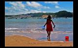 At the beach ...