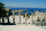 The view from the acropolis at Lindos