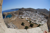 The view from the fortifications behind the Temple of Lindian Athena