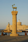 The entrance to the harbour at Rhodes