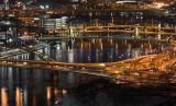 The bridges at night