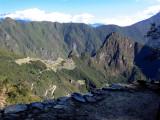 Machu Picchu as Seen 1,000 Feet Below, From the Sun Gate