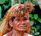 An Elder from the Yagua Indian Tribe - Peru