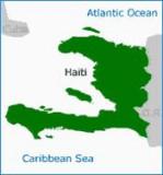 map of Haiti, with the island of La Gonav right off the coast