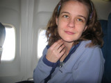 Ashley on the flight over