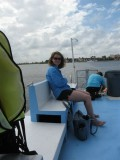 on the Moby Dick Boat tour out to see the Stingrays