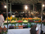 one of the many food stalls in the Djemaa el Fna