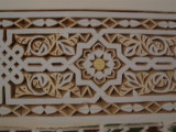 the detailed walls of their house