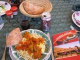 spaghetti at the Tichka Atlas Restaurant