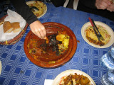 tajines = crock like cooking dish with meat and veggies and spices