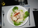 back in Merrakesh, ate lunch at this very nice Italian place, salad 70D