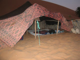 home sweet home for the night, well it was supposed to be, but we ended up sleeping out under the stars, much better