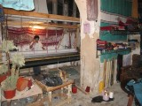 inside a weaving shop, where I bought 2 scarves in here