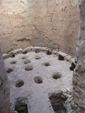 the firing pits (heated with the burning olive pits)