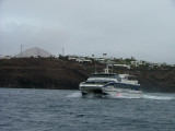 Passing our yacht