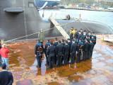 U34-S184 Bergen - Norwegen April 2007 -Kommandant U33 -S183-Korvettenkapitän Kai Brandt
