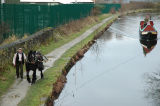 Horse Drawn Narrowboat with Sue and Bonny