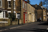 Cyclist in  A Glossop Street