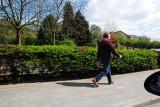 Man Walkin down a Road in Broadbottom